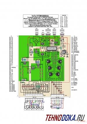 VoTo DTZM10000VA, схема платы управления, обозначение и номиналы элементов, напряжения на выводах микропроцессора